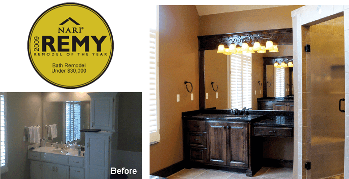 2009 Remy Award Winning Bath Remodel Under $30,000